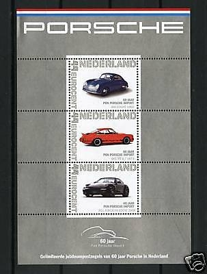 Porsche Post stamp set 60 years Porsche in the Netherlands