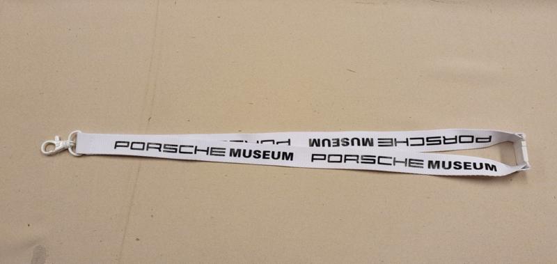 Porsche Museum lanyard - white