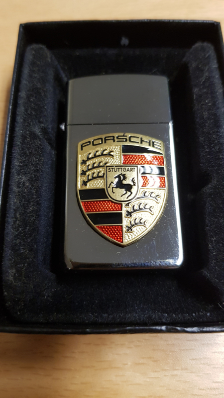 Porsche Zippo lighter - Slim Black Ice