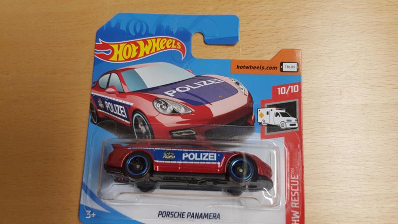 Porsche Panamera Polizei - Hot Wheels 1:64