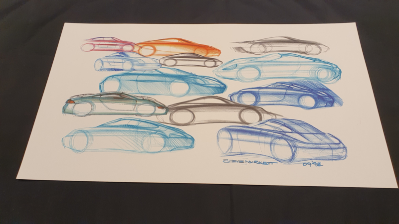 Porsche 911 996 Design Studie Collage - 59 x 33 cm - Steve Murrett