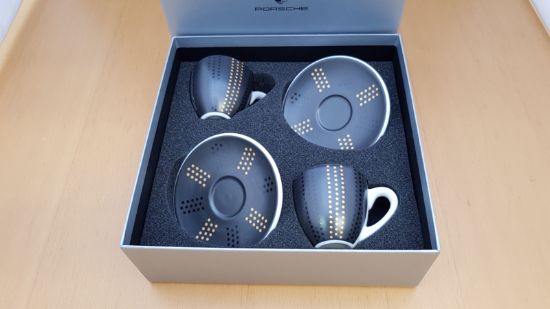 Porsche Espresso set - 911 Turbo S exclusive serie