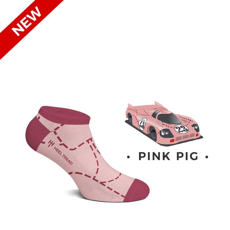Porsche Pink Pig - HEEL TREAD Low socks