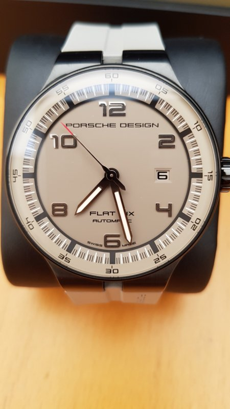 Porsche Design Flat Six P'6350 Automatic Mens Watch - Grey