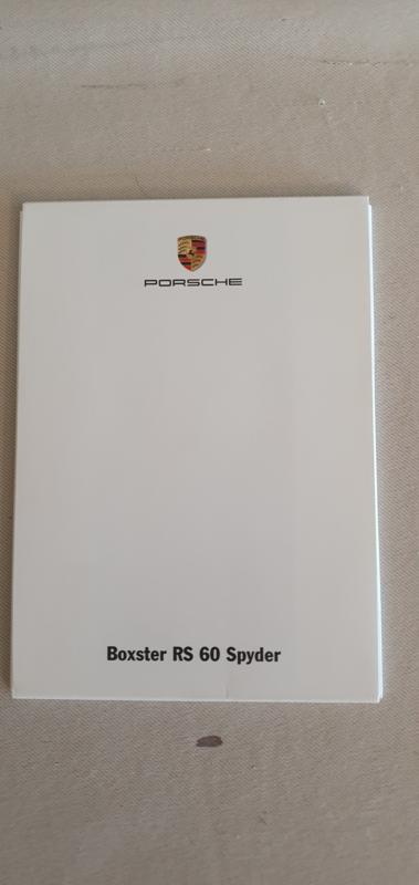 Porsche Postkarten Boxster RS 60 Spyder