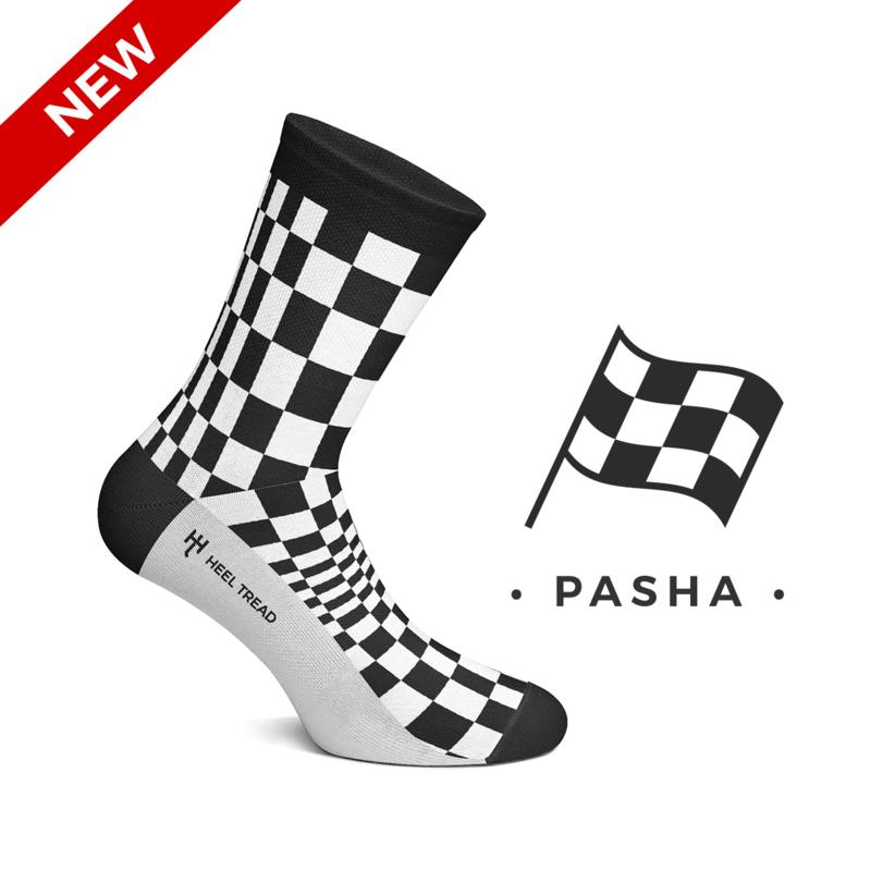 Porsche Pasha zwart/wit - HEEL TREAD Sokken