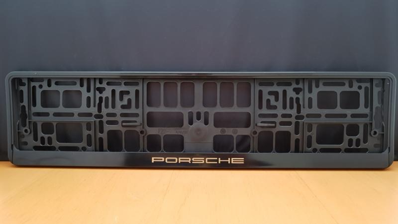 Porsche Porte-plaque d'immatriculation - Lettres d'or