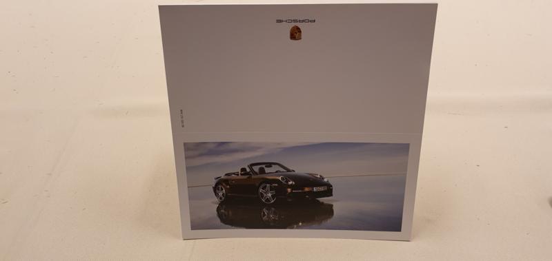 Porsche vouwkaarten 911 997 Turbo Cabrio