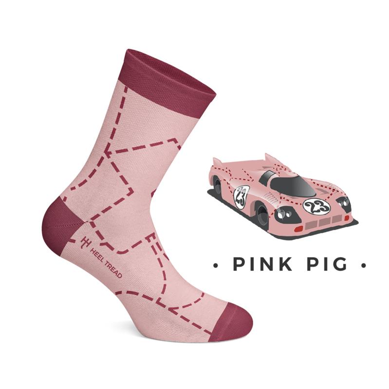 Porsche Pink Pig - HEEL TREAD Sokken