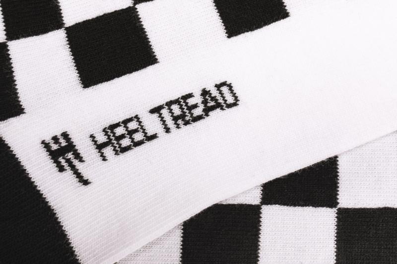 Heel Tread Pasha Black//White Socks