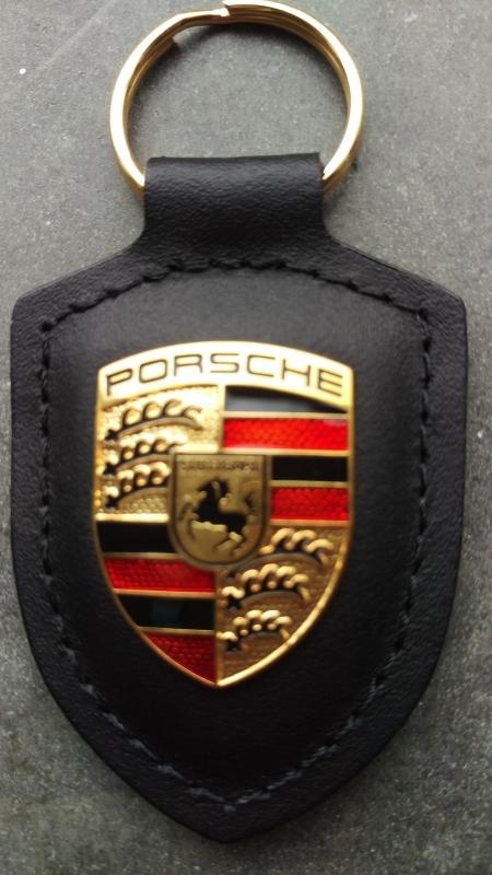 Porsche Porte-clés avec emblème Porsche noir