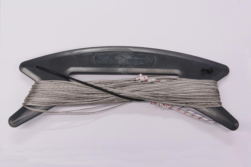 Vector Colour kitelines 2 x 20 meter, 170kg. grijs