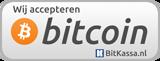 Wij accepteren bitcoins