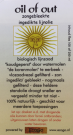 Oil-of-out zongebleekte, -ingedikte lijnolie 250ml
