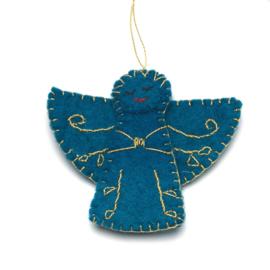 Kerstdecoratie, Engel van wolvilt