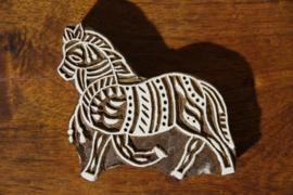 Handgesneden blokdrukstempel paardje