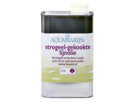 Strogeel gekookte lijnolie - Aquamarijn - 1 liter