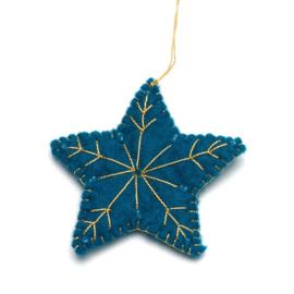 Kerstdecoratie, Ster van wolvilt