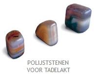 Tadelakt (stone) polijst half-edelsteen agaat geslepen, per stuk