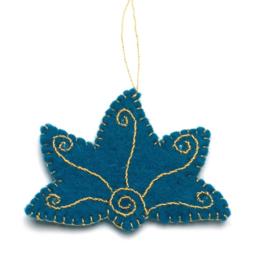 Kerstdecoratie, Lotus van wolvilt