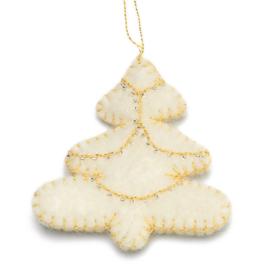 Kerstdecoratie, kerstboom van wolvilt