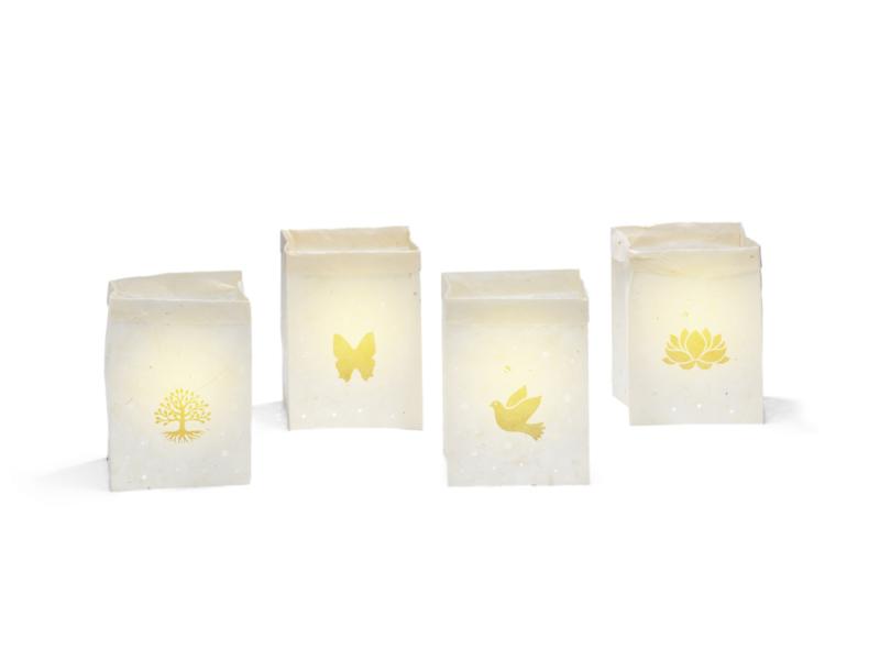 Lichtzakjes naturel - 4 afbeeldingen - set van 4