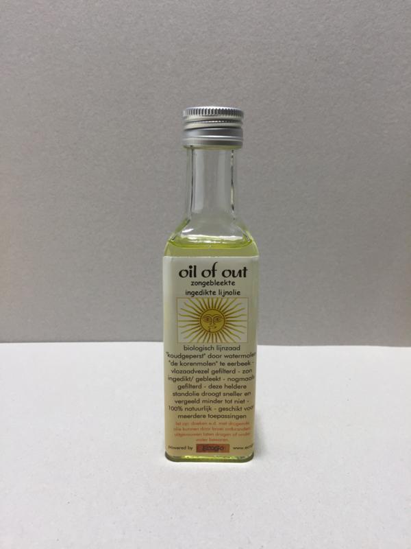 Oil-of-out zongebleekte, -ingedikte lijnolie 100ml
