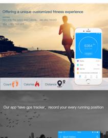 Fitness Tracker F2 Cubes