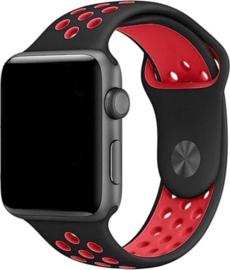 iWatch siliconen bandje rood/zwart