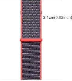 Nylon bandje roze/grijs 42/44mm
