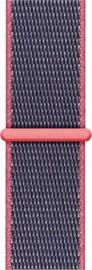 Nylon bandje blauw/roze 42/44mm