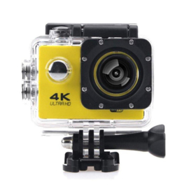 Action cam ultra HD geel