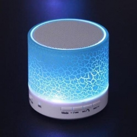 Led Bluetooth speaker blauw