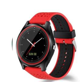 Smartwatch V9 rood-zwart