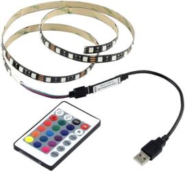 Led strip RGB met afstandbed. 1 meter