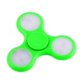 Fidget spinner met led, groen