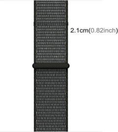 Nylon bandje grijs 42/44mm