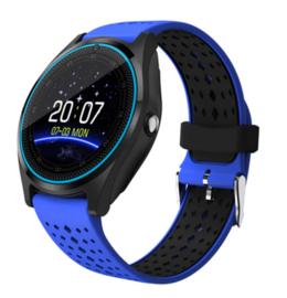 Smartwatch V9 blauw-zwart