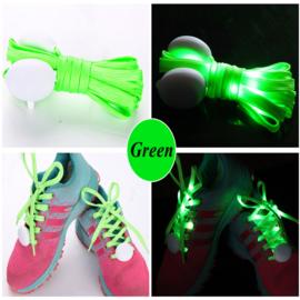 Schoenveters met led verlichting groen