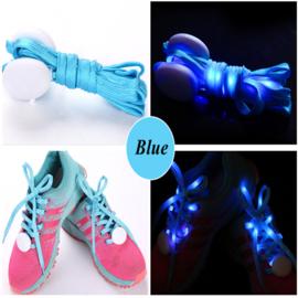 Schoenveters met led verlichting blauw