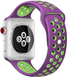 iWatch siliconen bandje paars/groen