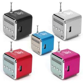 Mini radio V26 grijs