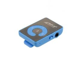 Mini MP3 speler met oortjes blauw