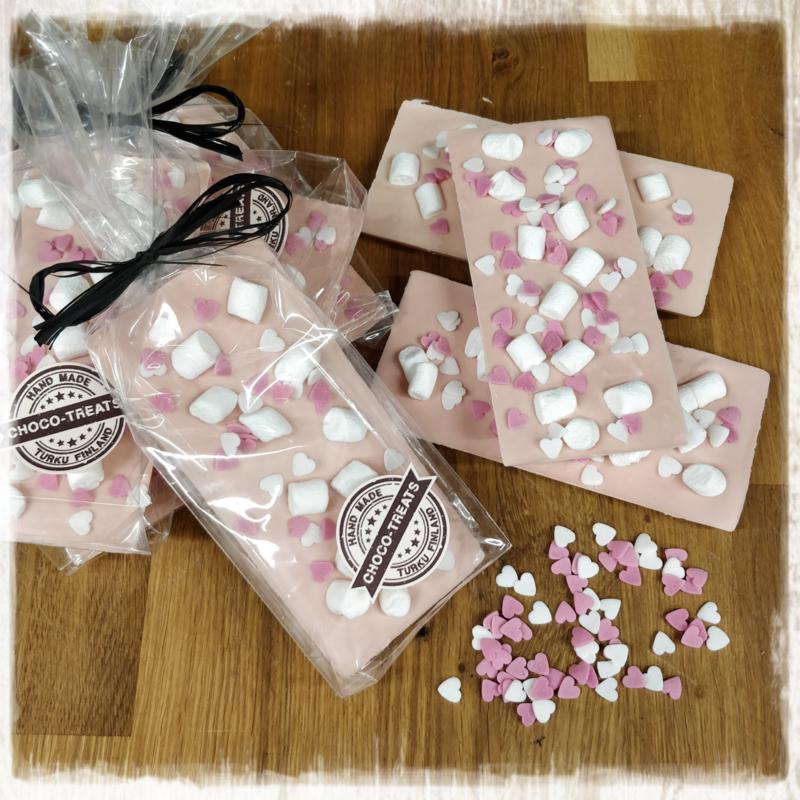 Suklaalevy Vadelma marshmallow 10/kpl