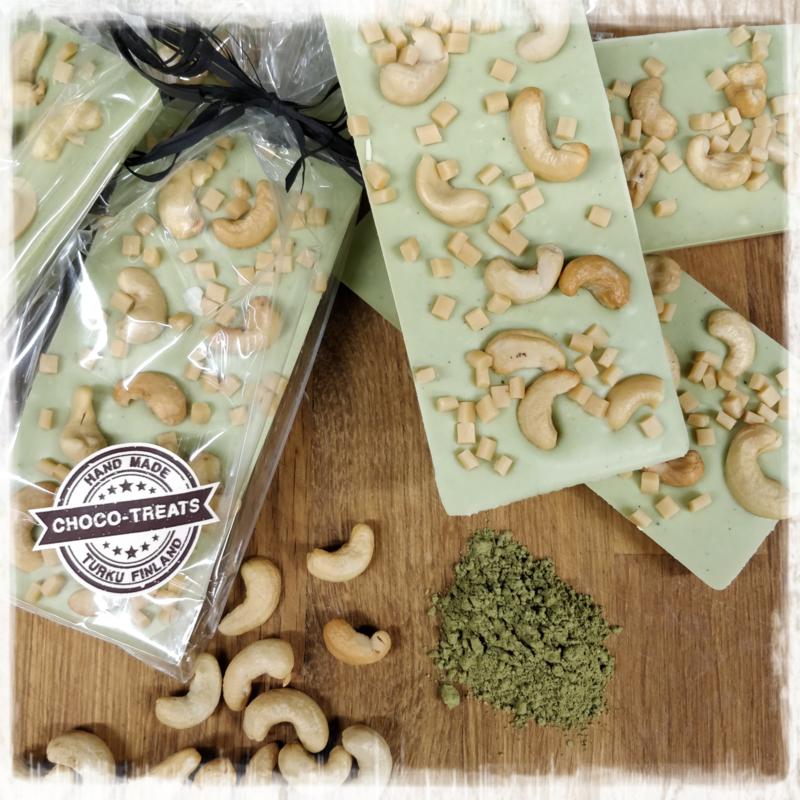 Suklaalevy Matcha cashew caramel  10/kpl
