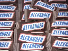 Snickers met naam
