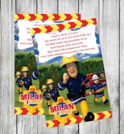 Brandweerman Sam - Uitnodiging