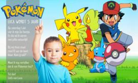 Pokemon & Ash - Uitnodiging 1A