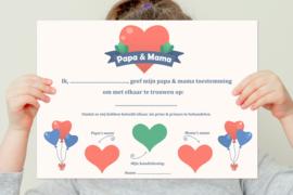 Kinderakte - Toestemming voor Papa & Mama
