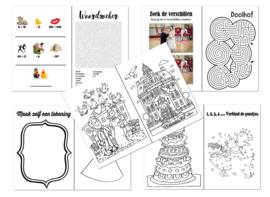 Bruiloft doe-boekje voor KIDS